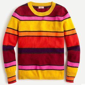 Cashmere crewneck sweater in multistripe-AR536